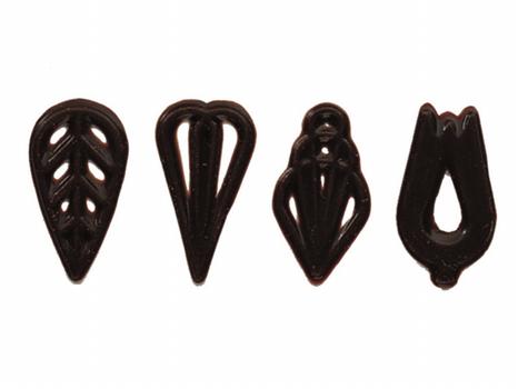 Čokoládová ozdoba - filigrány tmavé mix 610ks