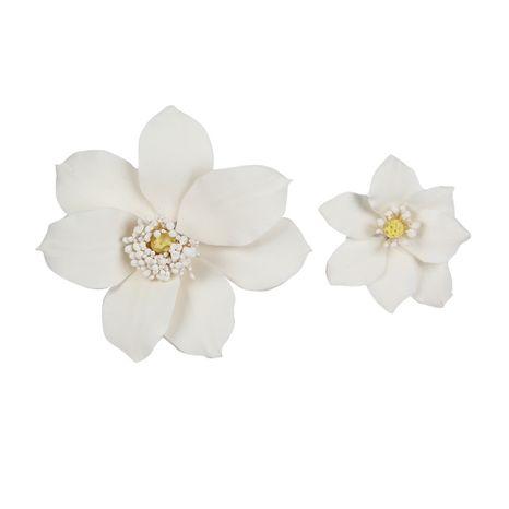 Cukrová dekorácia Clematis biela - malá 5cm