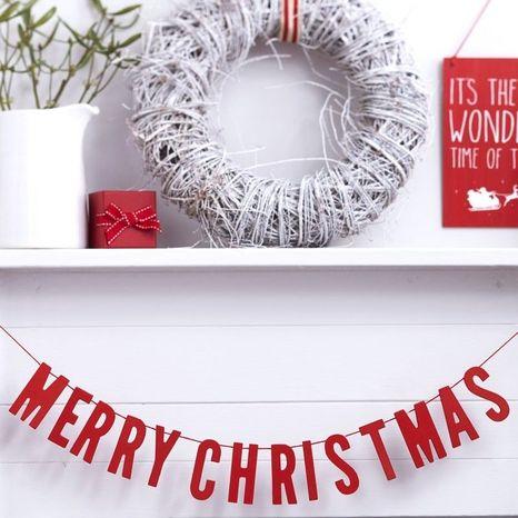 Dekorácia na zavesenie Merry Christmas červená