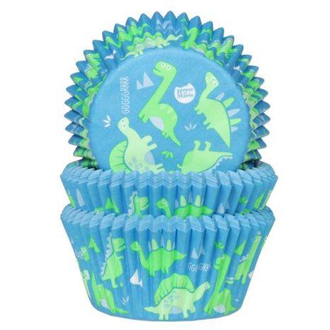 HoM košíčky na pečenie - modré s dinosaurom 50ks