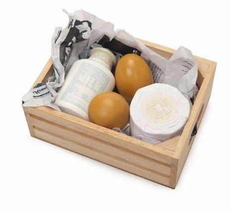 Honeybee Market - debnička s vajíčkami, mliekom a syrom
