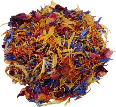 Jedlé sušené kvety Rainbow Mix 110ml