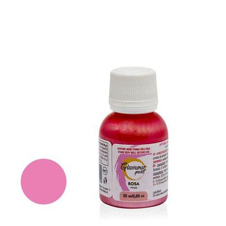 Metalická jedlá farba - Ružová 25g