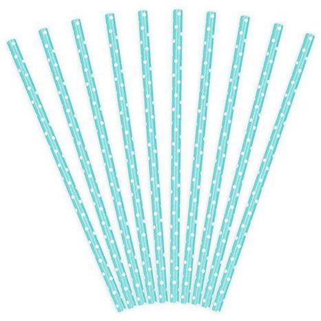 Paličky na cake pops - mentolové s bielými bodkami 10ks