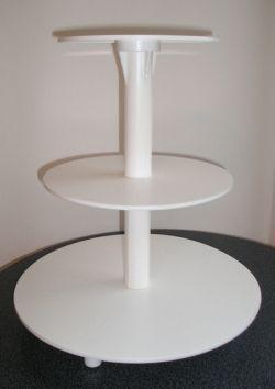 Plastový stojan biely - 3 poschodový