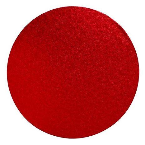 Tortový podnos okrúhly 300mm - 12mm hrúbka červený