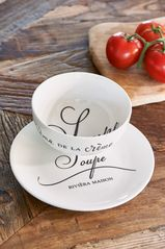 Riviera Maison - Miska s tanierikom na servírovanie polievky